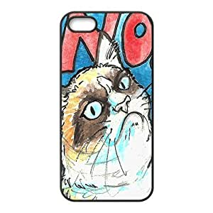 Case for iPhone 5s,Cover for iPhone 5s,Case for iPhone 5,Hard Case for iPhone 5s,Cover for iPhone 5,Grumpy Cat Design TPU Hard Case for Apple iPhone 5 5S