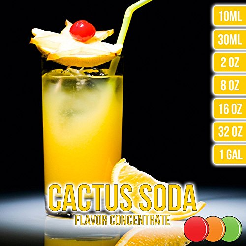 OOOFlavors Cactus Soda Flavored Liquid Concentrate Unsweetened (10 ml) ()