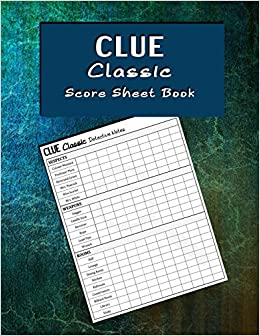 photo relating to Clue Printable Sheets named Clue Clic Ranking Sheet Reserve: Rating sheet paperback for