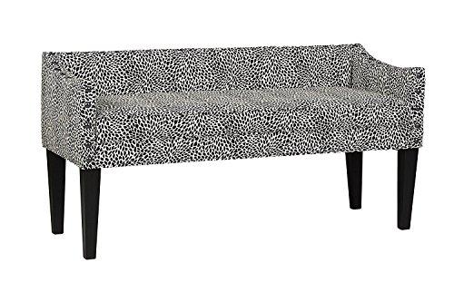 Leffler Home 13000-02-32-01 Whitney Transitional Long Upholstered Bench, Black (Settee Black Bench)