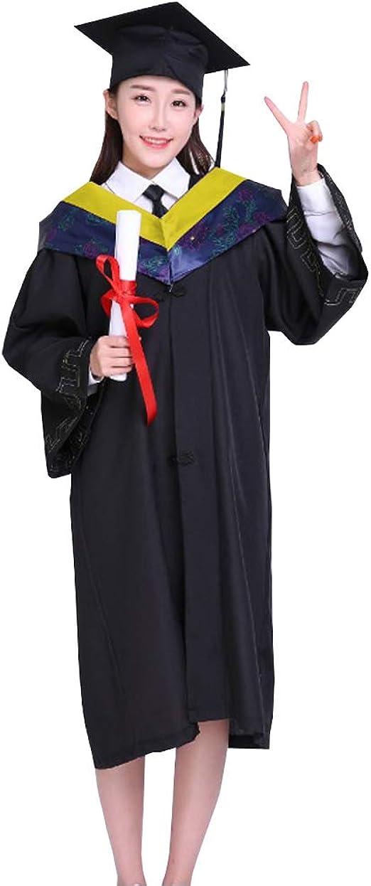 DAZISEN Bachelors Degree Graduación Ropa Maestría Graduado Universidad Colegio Estudiante Ropa de Evento 4 Piezas Set: Amazon.es: Ropa y accesorios