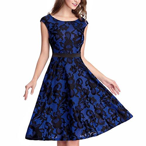 Knee Length Lace Wedding Dress - 5