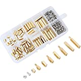 eBoot 180 Pieces Male Female Hex Brass Spacer Standoff Screw Nut Assortment Kit (M2.5)