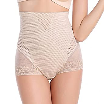 4fb72b87f7e Women Shapewear Underwear High Waist Body Sculpting Trainer Panties  Lingerie Beige L