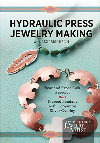 Hydraulic Press Jewelry Making: Bear and Cross Link Bracelet Plus Pierced Pendant with Copper on Silver - Overlay Cross