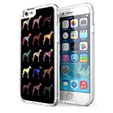 Greyhound Dog Pattern iPhone 6 Clear Cover Case