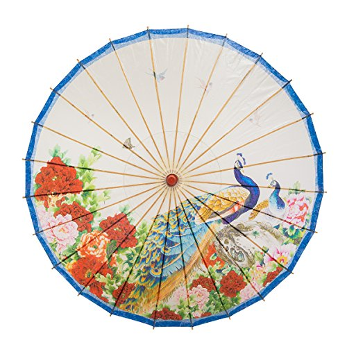 Umbrella Paper Oiled - THY COLLECTIBLES Rainproof Handmade Chinese Oiled Paper Umbrella Parasol 33