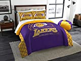 Los Angeles Lakers - 3 Piece FULL / QUEEN SIZE Printed Comforter & Shams - Entire Set Includes: 1 Full / Queen Comforter (86'' x 86'') & 2 Pillow Shams - NBA Basketball Bedding Bedroom Accessories
