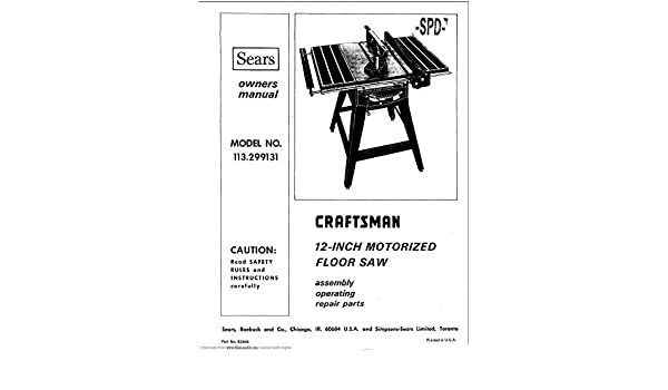 craftsman projector accessories user manual