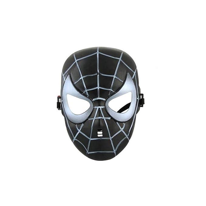 Avengers Super Hero Mask Avengers Costume Mask Super Hero Party Cosplay Mask (Black Spider- Man)