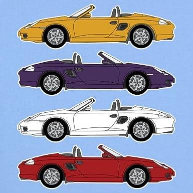 3 bis 24 Monate Retro-Autodesign 986 Box Sportwagen 8 Farben 4 Farben Witziges Baby T-Shirt