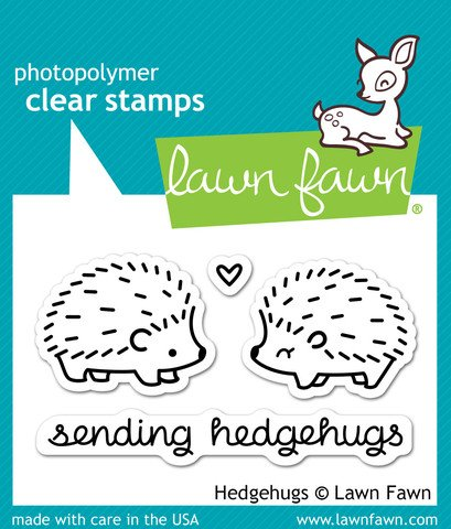 LF729 Lawn Fawn Clear Stamp - Hedgehugs