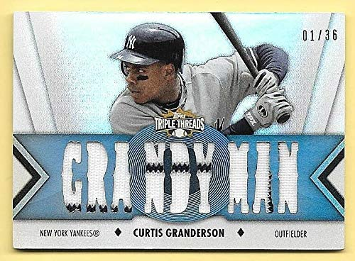 2012 Topps Triple Threads #152 Curtis Granderson Triple Jersey Insert #01/36