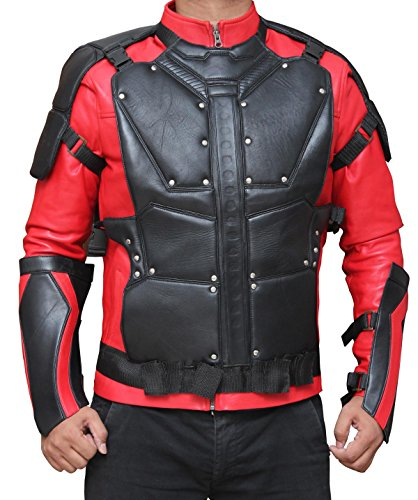 Suicide Squad Deadshot Will Smith Jacket For Halloween (XS, Red and (Will Smith Halloween)