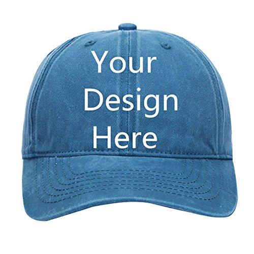ized Photo or Text Hat Adjustable Baseball Cap ()