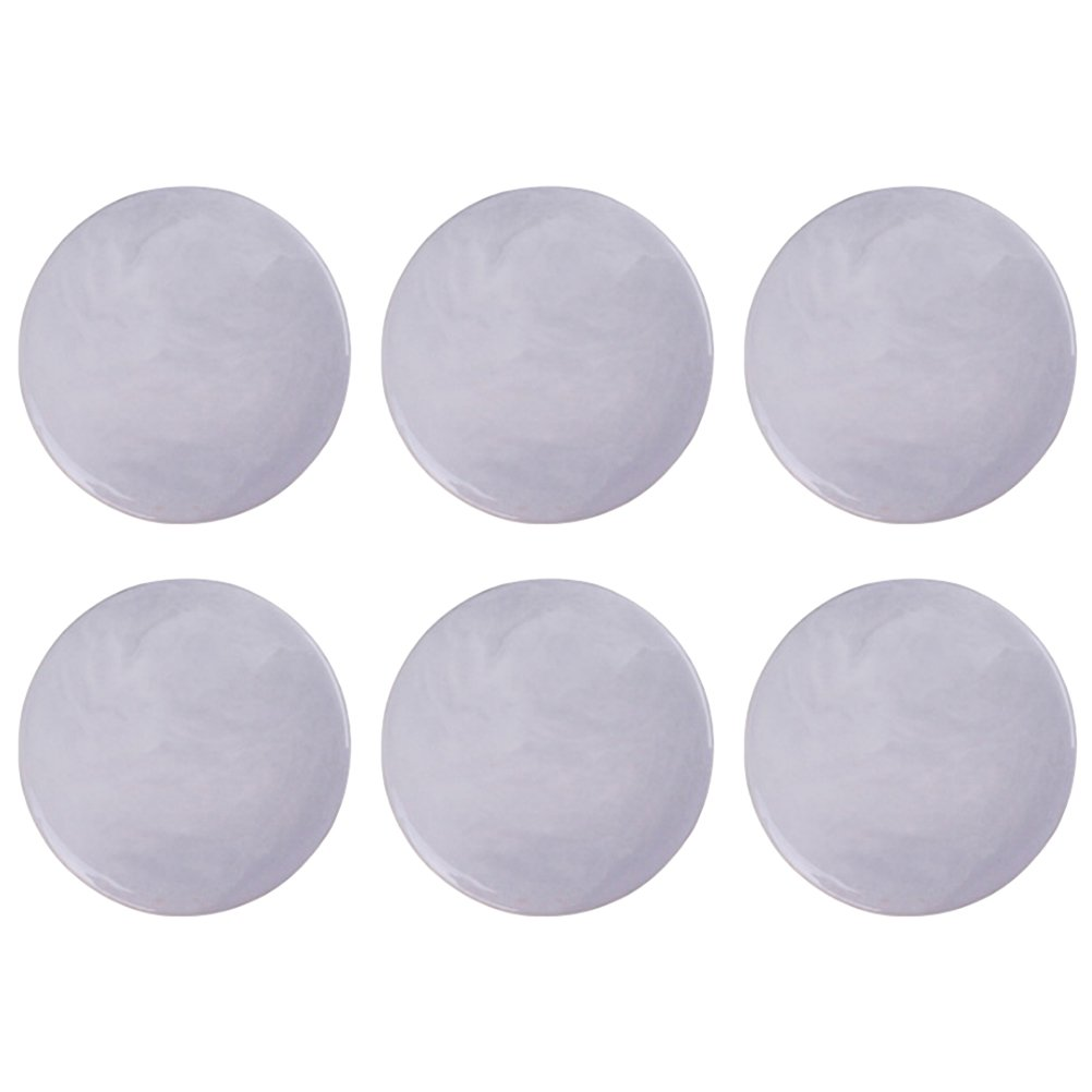 6 Pcs Creative Marble Ceramic Cup Coaster Round Mug Coffee Cup Dining Table Insulation Coaster(Grey)
