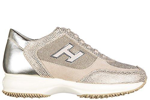 Hogan Damenschuhe Turnschuhe Damen Wildleder Schuhe Sneakers interactive h flock