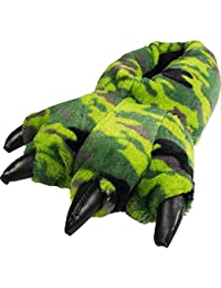 Grizzly Bear Stuffed Animal Claw Paw Slippers Toddlers, Kids & Adults