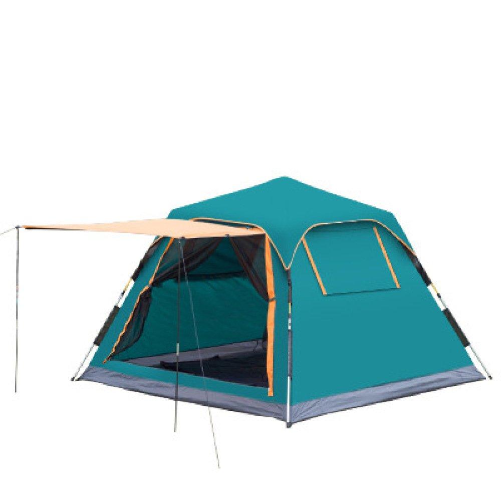 Hlxx Im Freien Automatische 3-4 Camping Paar Camping Regen Sonnencreme Zelt,A