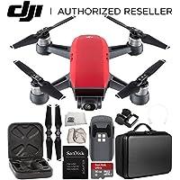 DJI Spark Portable Mini Drone Quadcopter Starter Portable Bag Shoulder Travel Case Bundle (Lava Red)