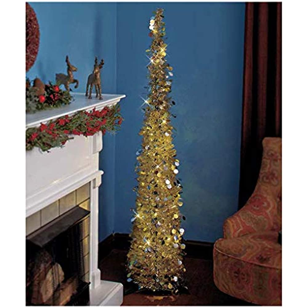 "Affordable, Collapsible 65"" Lighted Christmas Trees In ..."