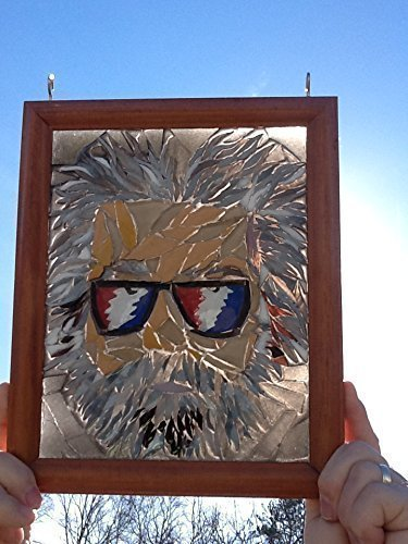 Jerry Garcia Stained Glass Window Art Sun Catcher, Grateful Dead