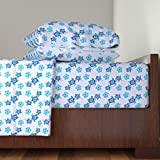Roostery Honu 3pc Sheet Set Hibiscus And Honu Turtles by Macdonaldcreativestudios Twin Sheet Set made with