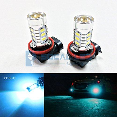 SOCAL-LED 2x H11 H8 LED Fog Light Bulb 15W SMD 5730 12V High Power Bright DRL Bulbs, Ice Blue (Used Honda Odyssey Minivan)