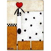 Love Dog by Daniel Patrick Kessler, 24x32-Inch Canvas Wall Art