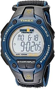 Timex Relógio Ironman Classic 30, tamanho grande, 43 mm, Ironman, Preto/azul