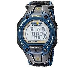 Timex T5K529 - Reloj digital con correa de resina para hombre, color negro/naranja: Amazon.es: Relojes