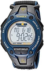 Timex Men's T5K413 Ironman Traditional Watch with Black and Blue Nylon Band