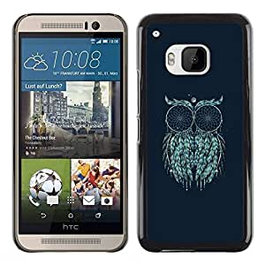 Paccase / SLIM PC / Aliminium Casa Carcasa Funda Case Cover - Art Moon Painting Mystical Eyes - HTC One M9
