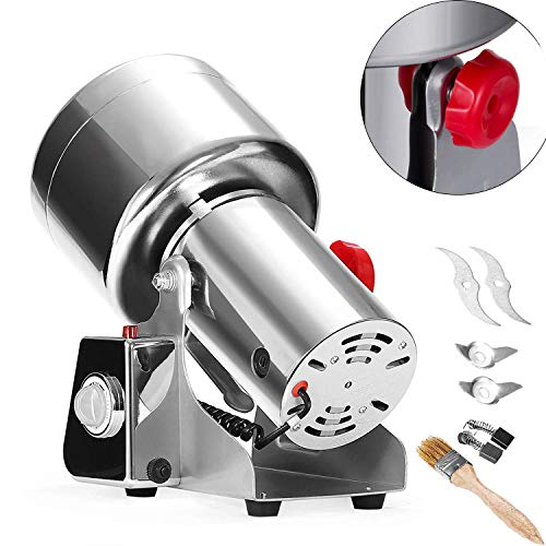 ain Grinder 750g Pulverizer Grinding Machine 2500W Mill Grinder Powder Machine 50-300 Mesh Food Grade Stainless Steel Swing Type Grain Grinder Mill for Kitchen Herb Spice Pepper Coffee ()