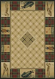 United Weavers of America Genesis Collection Classic Open Heavyweight Heat Set Olefin Rug, 1-Feet 11-Inch by 7-Feet 4-Inch, Natural