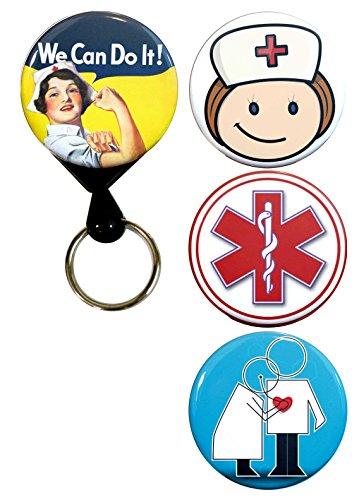 Buttonsmith Nurse Tinker Deluxe Retractable