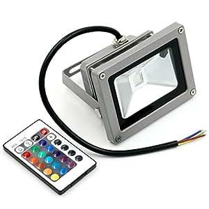 Al aire libre Seguridad RGB resistente al agua foco LED cambio de color RGB de alta potencia 7diferentes cambio de color con mando a distancia AC85V-265V (10watts)