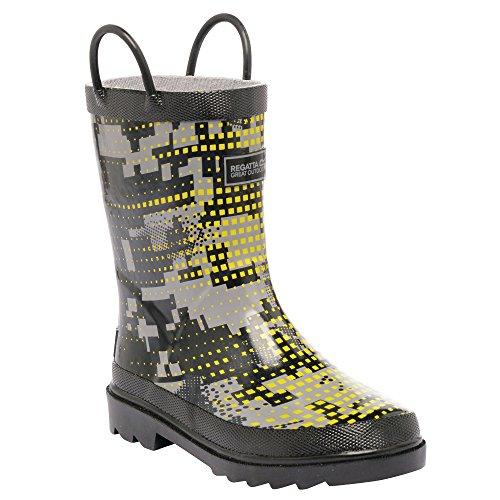 Regatta - Minnow - botas de goma para niño green & grey 44,5 eu, niños, minnow, blue - black Ash/RockGrey