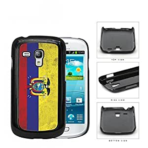 Ecuador Flag with Coat of Arms Yellow Blue and Red Grunge Hard Snap on Cell Phone Case Mini Samsung Galaxy S3 I9300 WANGJING JINDA