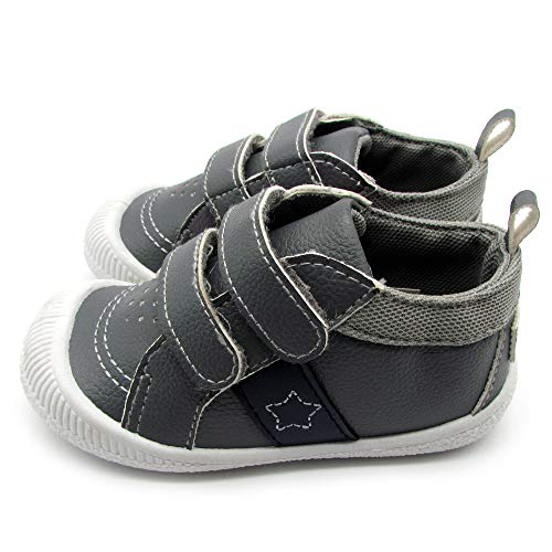 Gerber Baby Boys Early Walker Two Strap Bumper Toe Shoes Light Weight Gray Size 3 Age 6-9 Months