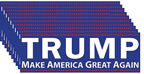 Sticker 10 (Trump Make America Great Again Bumper Sticker 10 Pack. This Republican Candidate Stands Against Political Correctness & For Conservative Values, the Constitution, & Defeating Crooked Hillary Clinton.)