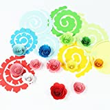 IMISNO Blossom Paper Kit DIY Flower Design Paper Quilling Set with Slotted Tool - Pack of 200-10Colors