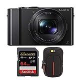 Panasonic LUMIX LX10 4K 20.1MP Digital Camera with Leica 24-72mm Lens (Black), 64GB...
