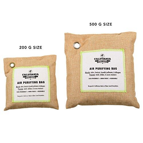 [해외]캘리포니아 홈 500g 활성 대나무 숯 탈취제 자연, 공기 청정 가방, 제습기, 알레르기 프리 필터, 가정용 냄새 중화제, S/California Home 500g Activated Bamboo Charcoal Deodorizer Natural, Air Purifying Bag, Dehumidifier, Allergy-Free Filte...