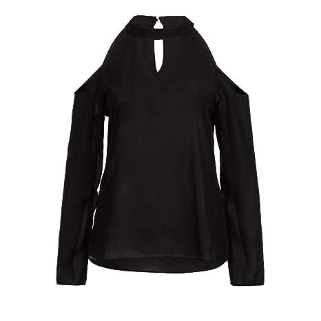 Mujer blusa fiesta,Sonnena ❤ Camisa sexy fuera del hombro de mujer Blusa de