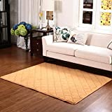 Rug WAN SAN QIAN- Children Bedroom Carpet Modern Simple Living Room Carpet Sofa Rectangle Blended Carpet Bedside Lattice (Color : B, Size : 120x160cm)