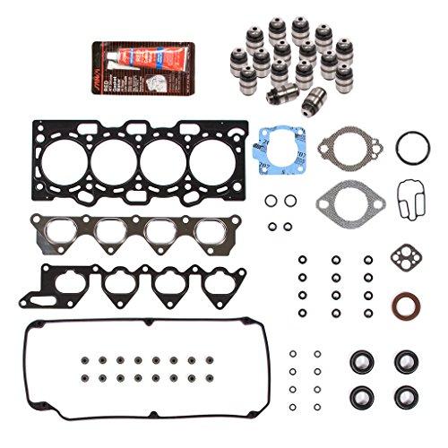 Evergreen HSLF5042 Lifter Replacement Kit Fits 02-07 Mitsubishi Lancer 2.0 SOHC 16V 4G94 Head Gasket Set, Lifters ()