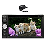 GPS Navigation Car DVD Player 6.2 Inch Universal Double Din in Dash GPS Car DVD Player USB SD Bluetooth Radio Navigation Rearview Camera