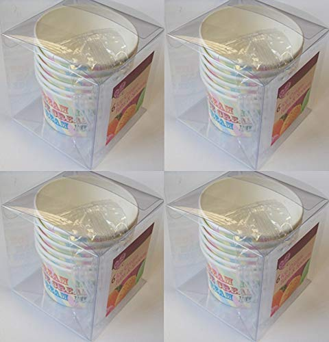 24 x Disposable Party Ice Cream Sweet Tubs Bowls & Spoons Parties BBQ Outdoor 151