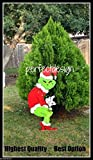 Grinch Stealing the Christmas Lights Handmade Wooden Yard Art Decor